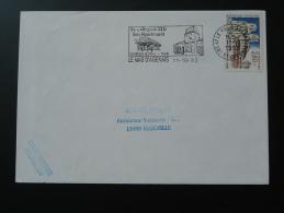 47 Lot Et Garonne Le Mas D'Agenais Collégiale Rembrandt - Flamme Sur Lettre Postmark On Cover - Abbeys & Monasteries