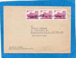 """MARCOPHILIE-lettre-Hongrie-années 50-Avec Oblitération D´arrivée France- -""""MARSEILLE 13"""" Linéaire - Marcophilie (Lettres)"""