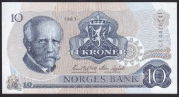 Norway 10 Kronen 1983 P36c UNC - Norvège