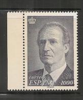 ESPAÑA - SPAIN - 1995 Yvert # 2998 - Rey Juan Carlos - ** MINT NH - Al Dorso Retintado Parte Del Traje Del Rey SCAN 2 - 1931-Today: 2nd Rep - ... Juan Carlos I