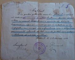 RADAUTZ,RADAUTI,BUKOWINA,CERTIFICATE,WAR ,1922,ROMANIA - Historische Dokumente