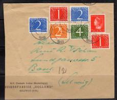 Mengfrankering Suikerrfabriek In HALFWEG (NH) Naar Duitsland 1948) (n40) - Periodo 1891 – 1948 (Wilhelmina)