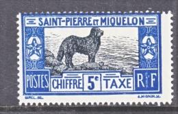 Saint-Pierre And Miquelon  J 21   *   DOG - Postage Due