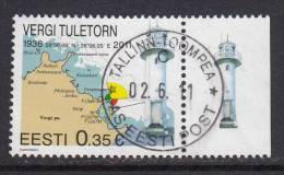 Estland 2011. Vergi Lighthouse. 1 W. Used. Gest. - Estonie