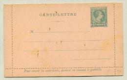 Monaco - 1886 - 25 Cent Carte-Lettre Getand 10 3/4 - Probably Reprint / ND - Postwaardestukken
