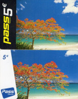 CARTES PREPAYEES  OUTREMER TELECOM  PASS Flamboyants  5e/5e  (lot De 2)  1**** 9832 - Antilles (Françaises)