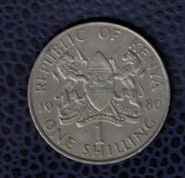 Kenya 1980 Pièce De Monnaie Coin 1 Schilling Daniel Toroitich Arap Moi Président - Kenya