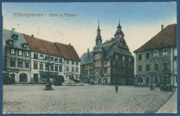 Hildburghausen Markt Mit Rathaus, Gelaufen 1920 (AK307) - Hildburghausen