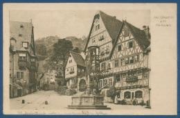 Miltenberg Am Main Marktplatz, Gelaufen 1917 Mit Bahnpost (AK312) - Miltenberg A. Main