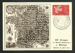 LORIENT - MORBIHAN / VIIIème Congrès Sociétés Philatéliques De Bretagne / 29.04.1962 - Bolli Commemorativi