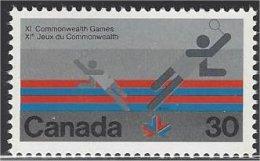 Canada  1978  #  758  ( JEUX DU COMMONWEALTH /  Badminton ) - 1952-.... Elizabeth II
