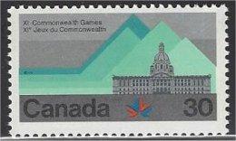 Canada  1978  #  761  ( JEUX DU COMMONWEALTH /  édifice De La Législature ) - 1952-.... Elizabeth II