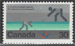 Canada  1978  #  762  ( JEUX DU COMMONWEALTH /  Boulingrin ) - 1952-.... Elizabeth II