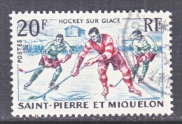 SAINT PIERRE Et MIQUELON  358   (o)   ICE  HOCKEY - St.Pierre & Miquelon