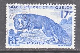 SAINT PIERRE Et MIQUELON  344   (o)   FAUNA  FOX - St.Pierre & Miquelon
