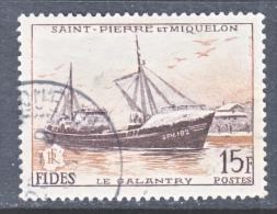 SAINT PIERRE Et MIQUELON  350   (o)   FISHING  SHIP - St.Pierre & Miquelon