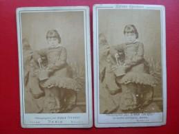 CDV FILLETE AU PANIER EPREUVE SPECIMEN PHOTO EMILE TOURTIN ROUEN - Antiche (ante 1900)