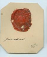 CACHET HISTORIQUE EN CIRE  - Sigillographie - SCEAUX - 082 Jarreau - Seals