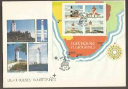 South Africa RSA -1988 - Lighthouses - FDC S14 - Afrique Du Sud (1961-...)
