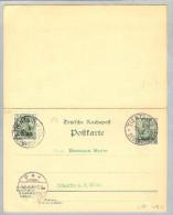 DR Deutsche Post In China Tientsin 1902-04-26 GS Doppelkarte - Offices: China