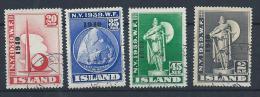 Islande 1940 188A/188D Oblitérés Expo De New York Surchargée Cote 400 Euros - Gebraucht