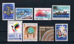 Finnland 1975 Kleines Lot 8 Werte ** - Finlande