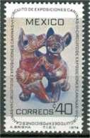 1974 México Exposición Canina 6th. Traveling Dog Exhibition / DANCING DOGS, PRE-COLUMBIAN Stamp MNH - Mexique