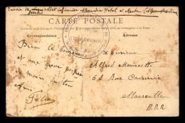 CACHET DE L'OFFICIER GESTIONNAIRE XV REGION DE L'HOPITAL COMPLEMENTAIRE N°30 DE MENTON (ALPES-MARITIMES) - Poststempel (Briefe)
