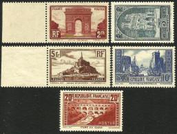 France - Monuments Et Sites - N° 258 à 262 Neufs Sans Charnière. - France