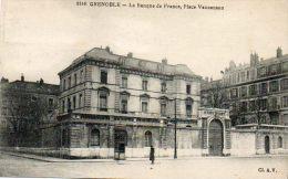 CPA - GRENOBLE (38) - Vue De La Banque De France Place Vaucanson - Grenoble