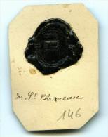 CACHET HISTORIQUE EN CIRE  - Sigillographie - SCEAUX - 146 De St. Chereau - Seals