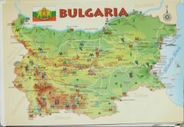 Bulgaria - Geographical Map - Bulgarije
