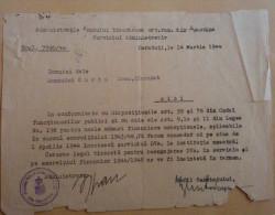 CZERNOWITZ,CERNAUTI,BUKOWINA,CERTIFICAT,1942,ROMANIA - Historische Dokumente