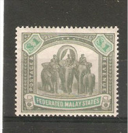 FEDERATED MALAY STATES 1900 Watermark Crown CC $1 SG 23 LIGHTLY MOUNTED MINT Cat £170 - Federated Malay States