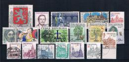 Tschechische Republik 1993 Kleines Lot Gestempelt - Tschechische Republik