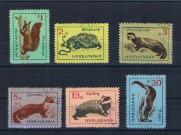 Bulgarien 1963 Tiere Mi.Nr. 1377/82 Kpl. Satz Gest. - Gebruikt