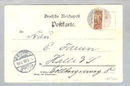 Deutsche Post Auf Den Karolinen Ponape Halbierung Auf AK 1905-05-01 - Colonie: Carolines