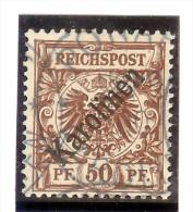 Deutsche Post Auf Den Karolinen Mi# 6 I (flach) Gestempelt Attest - Colonie: Carolines