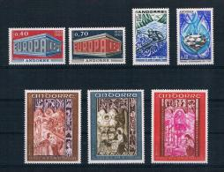 Andorra (französisch) 1969 Mi.Nr. 214-220 Kpl. Jahrgang ** - French Andorra