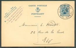 E.P. Carte 50 Centimes Obl. Sc UCCLE 1 UKKEL Du 22-10-1934 Adressé à Mr. L. Kindt - 10781 - Stamped Stationery