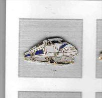 Pin´s  Doré  S N C F, T G V  325  Gris  Verso  AC  T G V  515,3  KM / H  18.05.90 - TGV