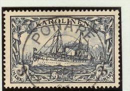 Deutsche Post Auf Den Karolinen Mi# 18 Voll-O Ponape 1906-01-13 Sig. - Colonie: Carolines