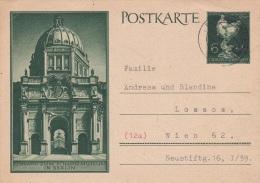 Grossdeutsches Reich - Postal Stationary Eingang Zum Schlossmuseum In Berlin P/m Eichgraben (Niederdonau) 3.10.1944 (G76 - Allemagne