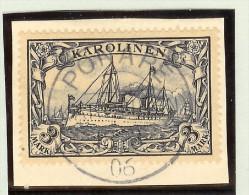 Deutsche Post Auf Den Karolinen Mi# 18 Voll-O Ponape 1906 Briefstk. - Colonie: Carolines