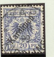 Deutsche Post Auf Den Karolinen Mi# 4 I (flach) Gestempelt YAP Sign. - Colonie: Carolines