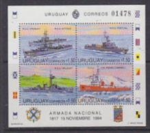 Uruguay 1994 Navy Day / Ships M/s ** Mnh (23834A) - Uruguay