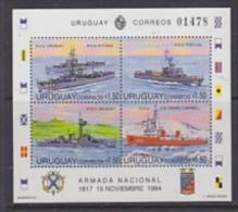 Uruguay 1994 Navy Day / Ships M/s ** Mnh (23834D) - Uruguay
