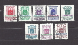 Czech Republic Tschechische Republik 1995-97 Gest. Mi  89, 92-95, 118, 140, 150 Sc 2966-2970 Histor. Baustile, Complete. - Czech Republic