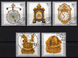 BRD 1992 - Wohlfahrt / Kostbare Alte Uhren - MiNr.1631-1635 Kompletter Satz - Uhrmacherei