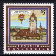 ÖSTERREICH 1986 ** Turmuhr, Towerclock / Korneuburg Mit Wappen - MNH - Uhrmacherei